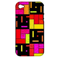 Squares And Rectangles Apple Iphone 4/4s Hardshell Case (pc+silicone) by LalyLauraFLM