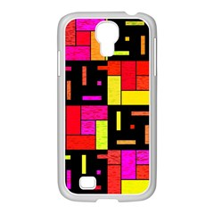 Squares And Rectangles Samsung Galaxy S4 I9500/ I9505 Case (white) by LalyLauraFLM