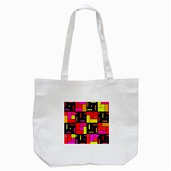 Squares And Rectangles Tote Bag (white) by LalyLauraFLM