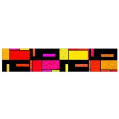 Squares And Rectangles Flano Scarf (small) by LalyLauraFLM