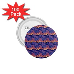 Pink Blue Waves Pattern 1 75  Button (100 Pack)  by LalyLauraFLM