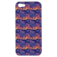Pink Blue Waves Pattern Apple Iphone 5 Hardshell Case by LalyLauraFLM