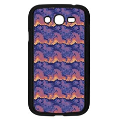 Pink blue waves pattern Samsung Galaxy Grand DUOS I9082 Case (Black) by LalyLauraFLM
