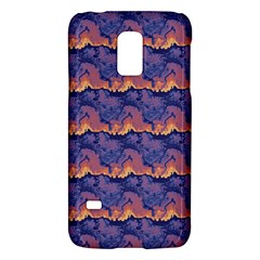 Pink Blue Waves Pattern Samsung Galaxy S5 Mini Hardshell Case  by LalyLauraFLM