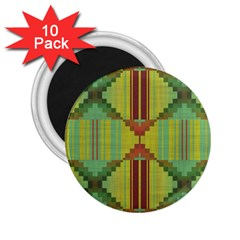 Tribal Shapes 2 25  Magnet (10 Pack) by LalyLauraFLM