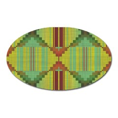 Tribal Shapes Magnet (oval) by LalyLauraFLM