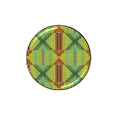 Tribal Shapes Hat Clip Ball Marker (4 Pack) by LalyLauraFLM
