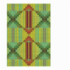 Tribal Shapes Small Garden Flag (two Sides) by LalyLauraFLM