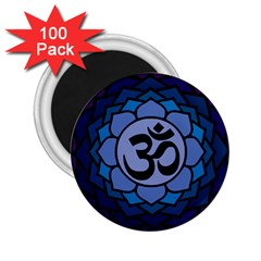 Ohm Lotus 01 2 25  Button Magnet (100 Pack) by oddzodd