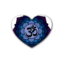 Ohm Lotus 01 Drink Coasters 4 Pack (heart)  by oddzodd