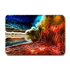 Abstract On The Wisconsin River Small Door Mat