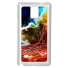 Abstract on the Wisconsin River Samsung Galaxy Note 4 Case (White) by bloomingvinedesign