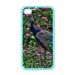 Peacock With Roses Apple Iphone 4 Case (color) by bloomingvinedesign