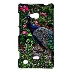 Peacock with roses Nokia Lumia 720 Hardshell Case by bloomingvinedesign