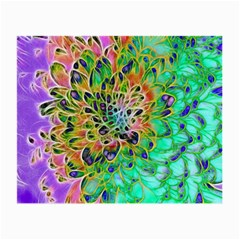 Abstract peacock Chrysanthemum Glasses Cloth (Small) by bloomingvinedesign