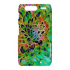 Abstract peacock Chrysanthemum Motorola Droid Razr XT912 Hardshell Case  by bloomingvinedesign