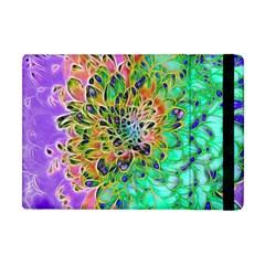 Abstract peacock Chrysanthemum Apple iPad Mini Flip Case by bloomingvinedesign