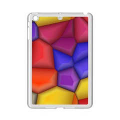 3d colorful shapes Apple iPad Mini 2 Case (White) by LalyLauraFLM