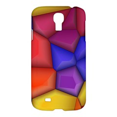 3d Colorful Shapes Samsung Galaxy S4 I9500/i9505 Hardshell Case by LalyLauraFLM