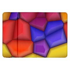 3d Colorful Shapes Samsung Galaxy Tab 8 9  P7300 Flip Case by LalyLauraFLM
