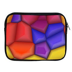 3d Colorful Shapes Apple Ipad 2/3/4 Zipper Case by LalyLauraFLM