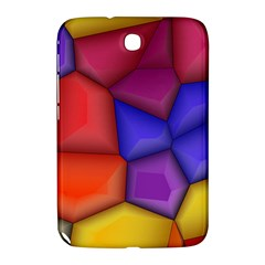 3d Colorful Shapes Samsung Galaxy Note 8 0 N5100 Hardshell Case  by LalyLauraFLM