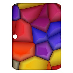 3d Colorful Shapes Samsung Galaxy Tab 3 (10 1 ) P5200 Hardshell Case  by LalyLauraFLM