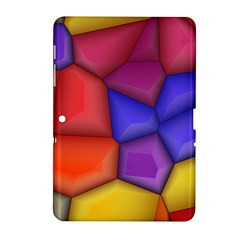 3d Colorful Shapes Samsung Galaxy Tab 2 (10 1 ) P5100 Hardshell Case  by LalyLauraFLM