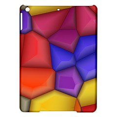 3d colorful shapes Apple iPad Air Hardshell Case by LalyLauraFLM