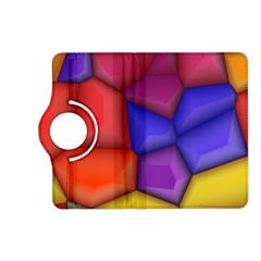 3d Colorful Shapes Kindle Fire Hd (2013) Flip 360 Case by LalyLauraFLM