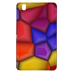 3d Colorful Shapes Samsung Galaxy Tab Pro 8 4 Hardshell Case by LalyLauraFLM