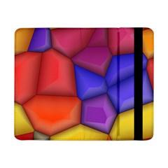 3d Colorful Shapes Samsung Galaxy Tab Pro 8 4  Flip Case by LalyLauraFLM