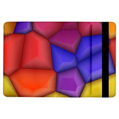 3d Colorful Shapes Apple Ipad Air Flip Case by LalyLauraFLM