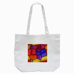 3d Colorful Shapes Tote Bag (white) by LalyLauraFLM