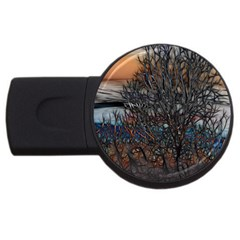 Abstract Sunset Tree 2gb Usb Flash Drive (round) by bloomingvinedesign