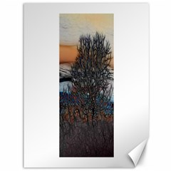 Abstract Sunset Tree Canvas 36  X 48  (unframed) by bloomingvinedesign