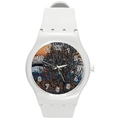 Abstract Sunset Tree Plastic Sport Watch (medium) by bloomingvinedesign
