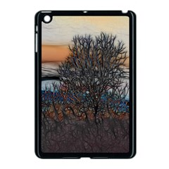 Abstract Sunset Tree Apple Ipad Mini Case (black) by bloomingvinedesign