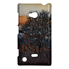 Abstract Sunset Tree Nokia Lumia 720 Hardshell Case by bloomingvinedesign