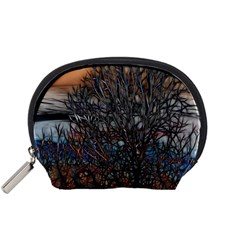 Abstract Sunset Tree Accessory Pouch (Small)