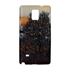 Abstract Sunset Tree Samsung Galaxy Note 4 Hardshell Case by bloomingvinedesign
