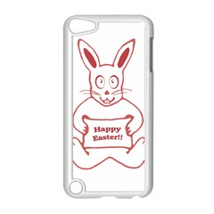 Cute Bunny With Banner Drawing Apple Ipod Touch 5 Case (white) by dflcprints