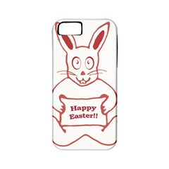 Cute Bunny With Banner Drawing Apple Iphone 5 Classic Hardshell Case (pc+silicone) by dflcprints