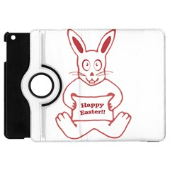 Cute Bunny With Banner Drawing Apple Ipad Mini Flip 360 Case by dflcprints