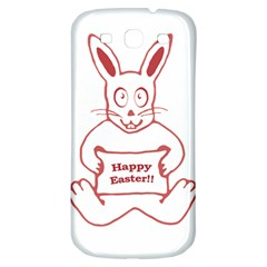 Cute Bunny With Banner Drawing Samsung Galaxy S3 S Iii Classic Hardshell Back Case by dflcprints