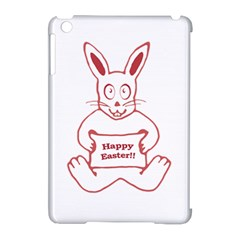 Cute Bunny With Banner Drawing Apple Ipad Mini Hardshell Case (compatible With Smart Cover) by dflcprints
