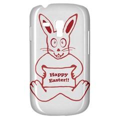 Cute Bunny With Banner Drawing Samsung Galaxy S3 Mini I8190 Hardshell Case by dflcprints