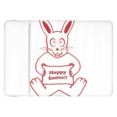 Cute Bunny With Banner Drawing Samsung Galaxy Tab 8 9  P7300 Flip Case by dflcprints