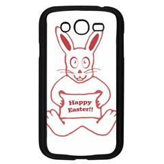Cute Bunny With Banner Drawing Samsung Galaxy Grand Duos I9082 Case (black) by dflcprints
