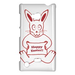 Cute Bunny With Banner Drawing Nokia Lumia 720 Hardshell Case by dflcprints